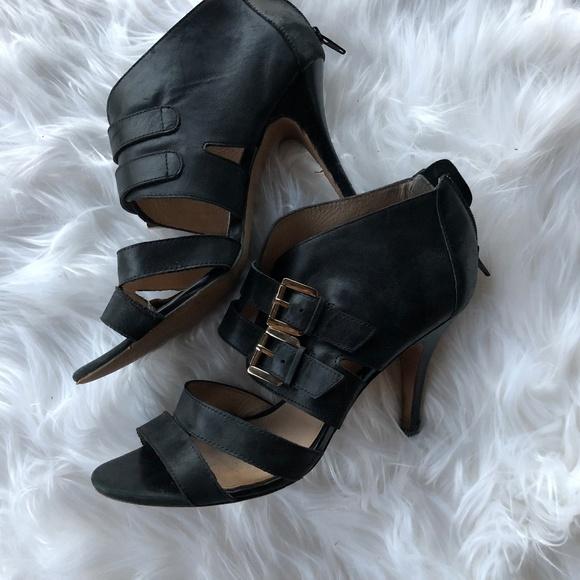 99a4acc871 Aldo Shoes - Aldo Strappy Black Sandals Heels Gold Buckle